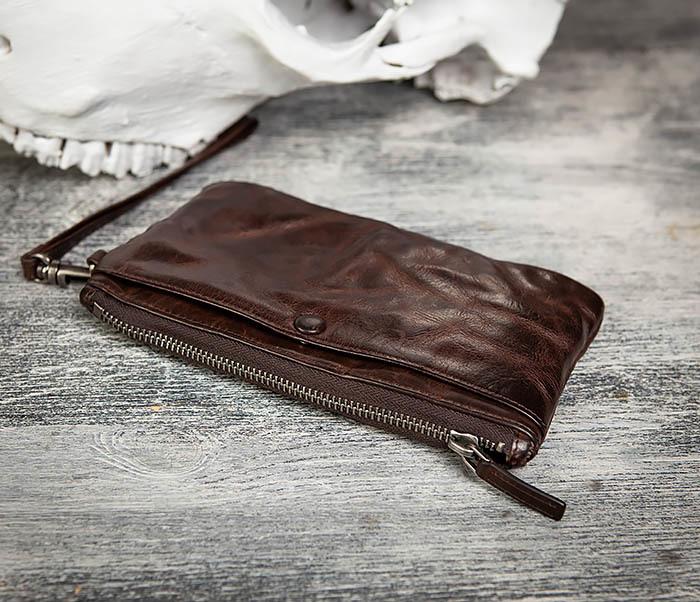 WL311-2 Добротное мужское портмоне из мятой натуральной кожи фото 06