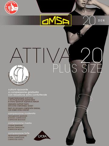 Колготки Attiva 20 XXL Plus Size Omsa