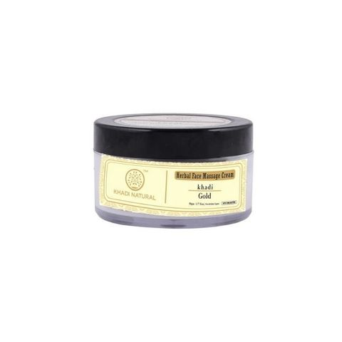 """Крем для лица массажный """"Золото"""" с маслом ши Khadi Natural, 50 гр"""