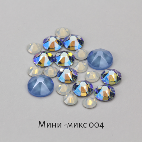 Стразы Swarovski для ногтей, Мини-микс №4 Цунами, 20шт.