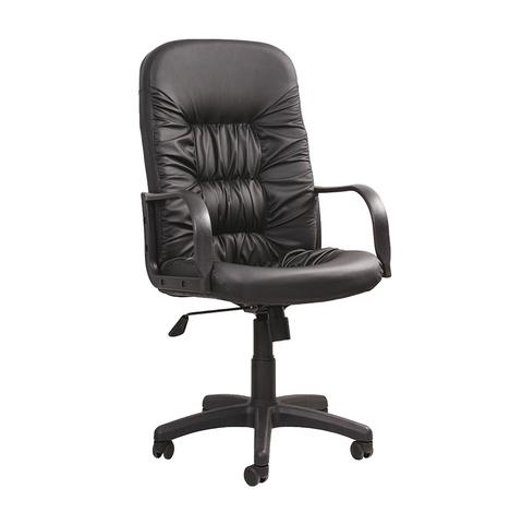 Кресло Твист (Twist) на роликах раздельный каркас с пластиковыми подлокотниками и крестовиной в эко-коже черного цвета, арт. 440120/PU01, производитель БЕЛС (РБ)