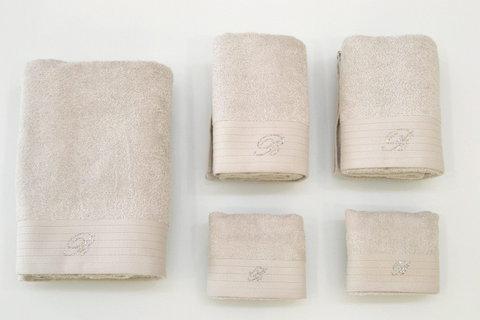 Набор полотенец 5 шт Blumarine Crociera серебро