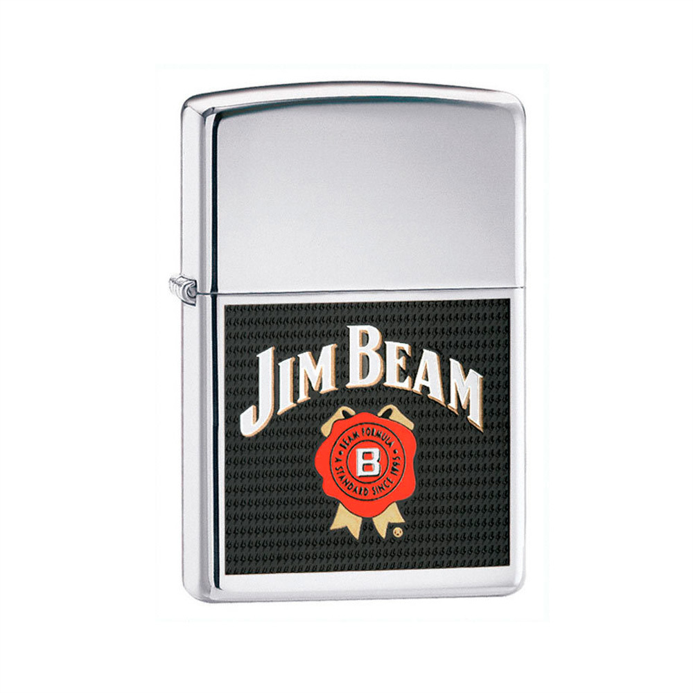 Зажигалка Zippo Jim Beam High Polish Chrome № 24552
