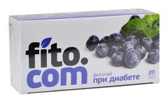 Фиточай, Фитоком Алтай, серии Fito.com, При диабете, №20х2 г.