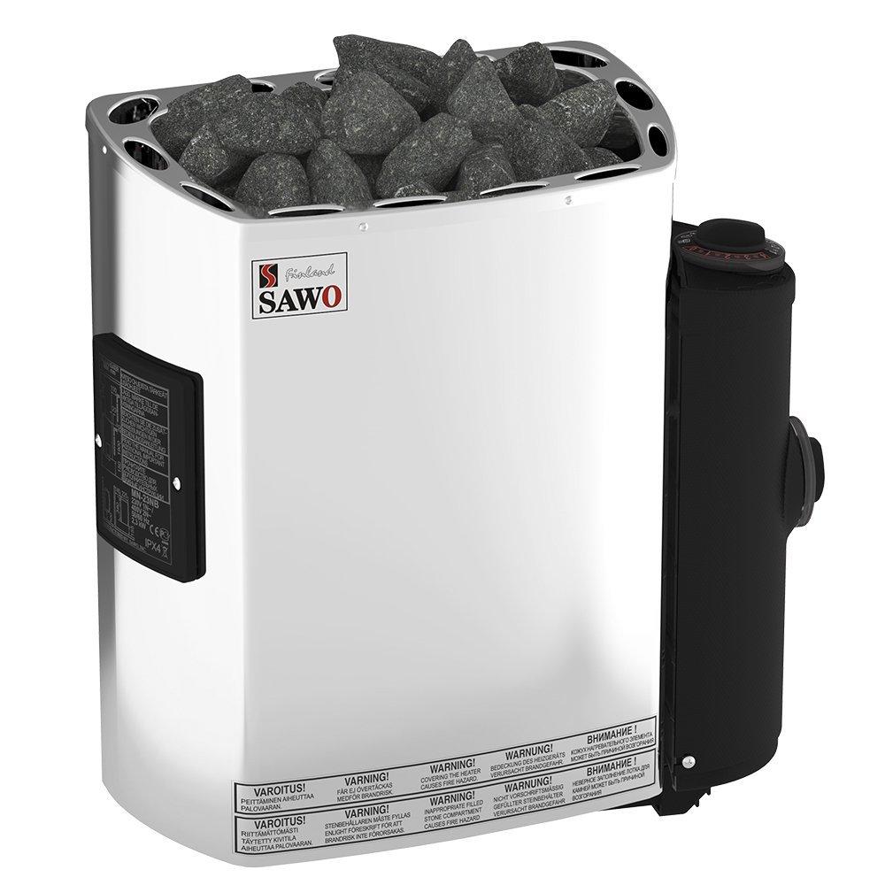 Серии Mini и Mini X: Электрическая печь SAWO MINI MN-23NB-Z (2,3 кВт, встроенный пульт, внутри оцинковка, снаружи нержавейка) детектор bughunter mini mn 01