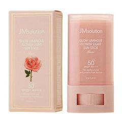 JMsolution Glow Luminous Flower Light Sun Stic - Солнцезащитный стик с розовой водой SPF50+