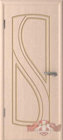 Дверь Владимирская фабрика дверей 10ДГ5, цвет беленый дуб, глухая