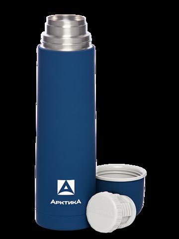 Термос Арктика (1 литр) с узким горлом классический, с резиновым