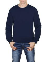 4054-5 футболка мужская дл. рукав, темно-синяя