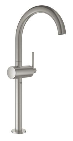 Atrio New Смеситель однорычажный для свободностоящих раковин, размер XL, СуперСталь