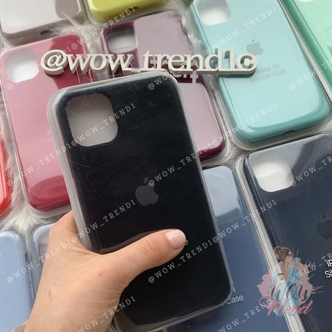 Чехол iPhone 11 Silicone Case Full /black/