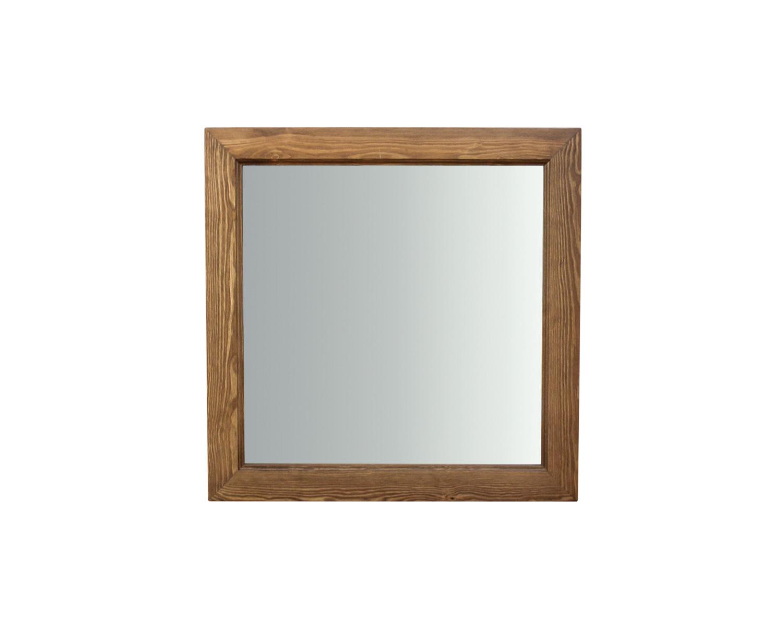 Зеркало квадратное, рама из массива
