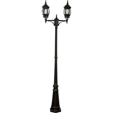 Cветильник садово-парковый, 2*100W 230V E27 черный, 8114 (Feron)