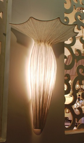 Wall lamp Evening Glory by Ayala Serfaty (white)