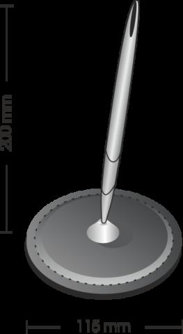 Схема настольной подставки для одной ручки.