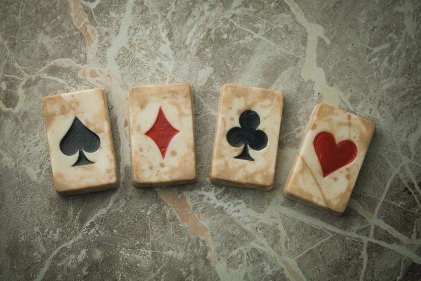 Мыло Игральные карты. Форма