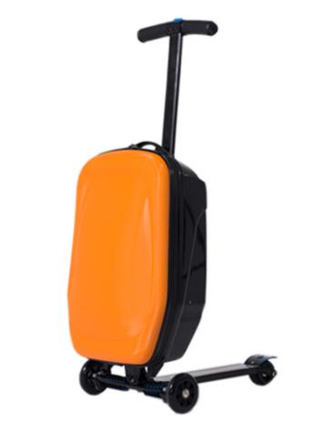 чемодан самокат оранжевый