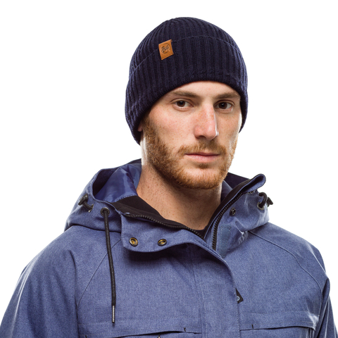 Вязаная шапка Buff Hat Knitted Biorn Night Blue