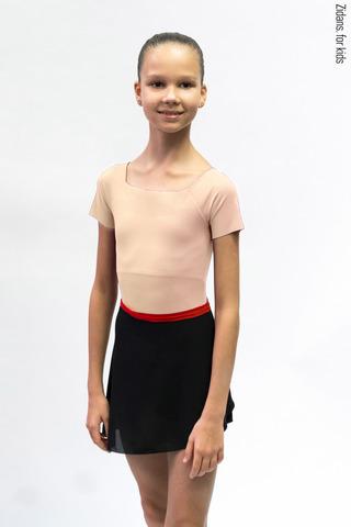 Детский комплект: купальник Футболка телесный + юбка
