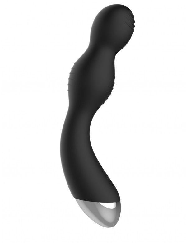 Электростимуляторы: Чёрный вибратор с электростимуляцией E-Stimulation G-spot Vibrator - 19,5 см.