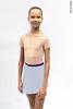 Комплект: купальник Футболка телесный + юбка