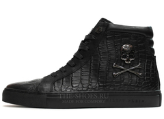 Кеды Мужские Philipp Plein High-Top Pirate Embossed-Croc