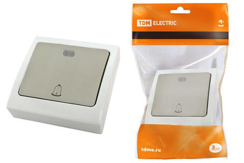 Кнопка звонковая с подсветкой скрытой установки IP54 6A