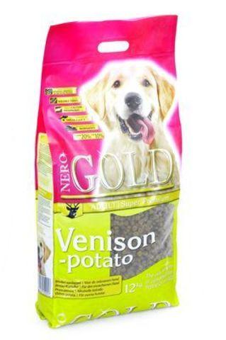 NERO GOLD Venison Potato сухой для взрослых собак с Олениной и сладким картофелем 12 кг.