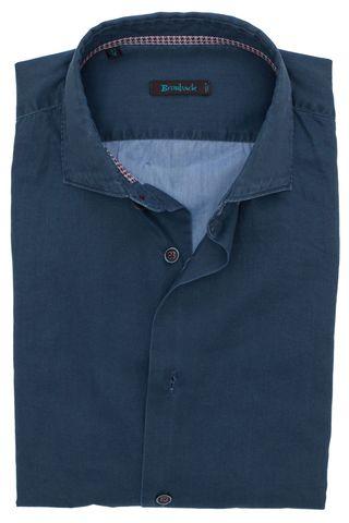 Тёмно-синяя рубашка в рубчик