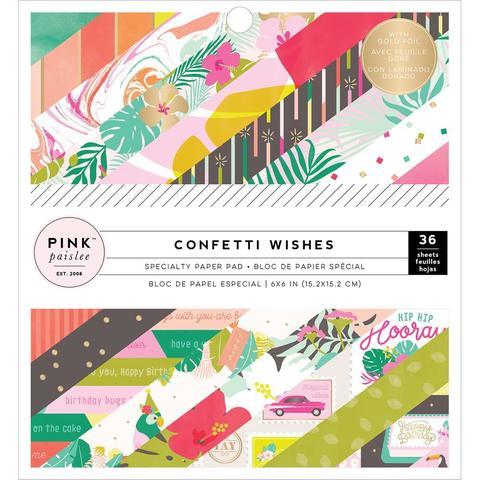 Набор односторонней бумаги 15х15см Confetti Wishes Double -Pink Paislee- 36л