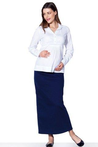 Юбка для беременных 06511 синий