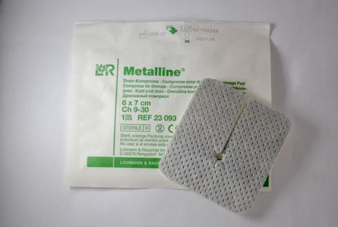 Материал перевязочный с алюминиевым покрытием Металлине для трахеостомы