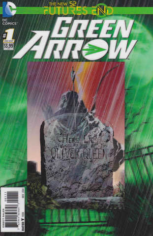 Futures End Green Arrow Lenticular Cover