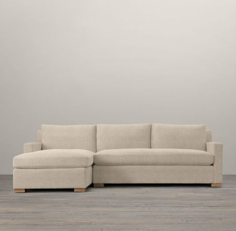 Belgian Track Arm Left-Arm Sofa Chaise Sectional