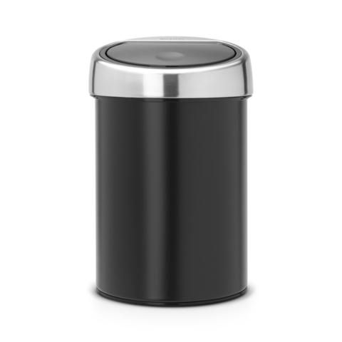 Мусорный бак Brabantia Touch Bin (3л), Черный матовый, арт. 364440 - фото 1