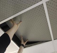негорючая  перфорированная потолочная плита UNIPROC 1220x2440 рисунок X32