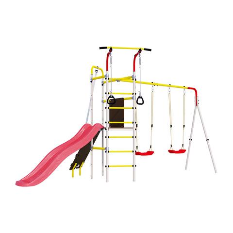 Детский спортивный комплекс для дачи ROMANA Островок Плюс (Пластиковые Качели)