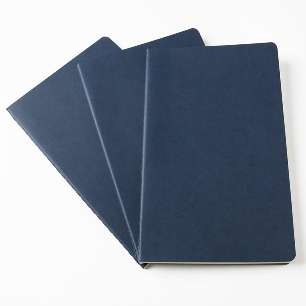 Набор 3 блокнота Moleskine Cahier Journal Large, цвет бежевый, в линейку