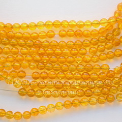 Бусина Цитрин (прессов), шарик, 4 мм, нить