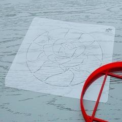 Трафарет Витражная роза форма для пряника, мастики, печенья