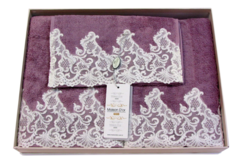 Набор полотенец  3 предмета JASMIN - ЖАСМИН / Maison Dor (Турция)