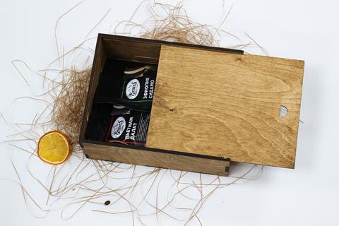 Малый кофейный набор №1 в деревянном коробе