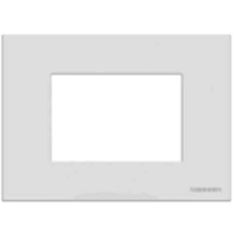 Рамка на 1 пост - 3 модуля, итальянский стандарт. Цвет Белый. ABB(АББ). Niessen Zenit(Ниссен Зенит). N2473 BL