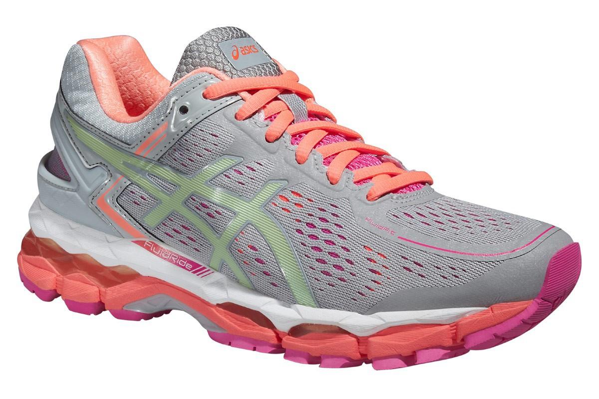 Женские кроссовки для бега Asics Gel-Kayano 22 (T597N 1087) серые