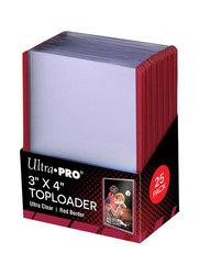 Ultra Pro - Жесткие прозрачные протекторы с красными краями (toploader)