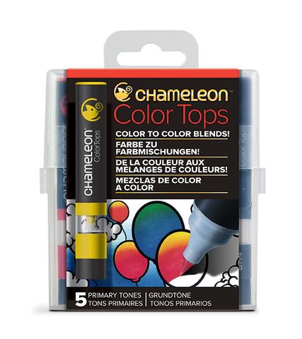 Набор цветовых блендеров Chameleon Color Tones Primary Tones, основные цвета, 5 шт.