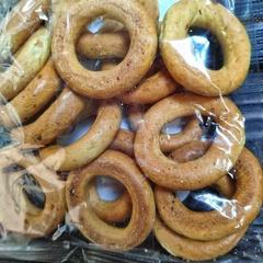 Сушки медовые цельнозерновые без сахара на закваске 150 гр.