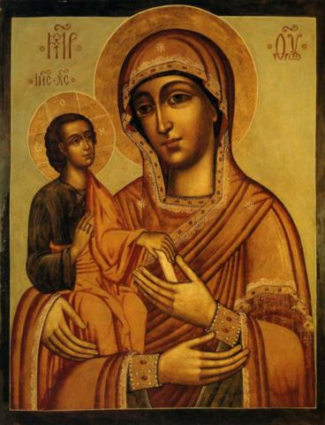 Икона Божией Матери Троеручица на дереве на левкасе мастерская Иконный Дом