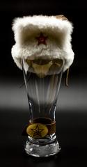 Сувенирный бокал для пива «Ушанка»