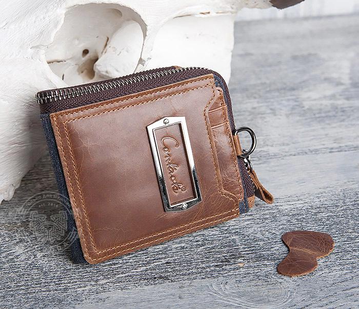 e7bf8cf27bbd WL278-2 Необычное мужское портмоне из кожи с дополнительным отделением